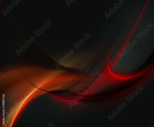 Elegant red fractal background