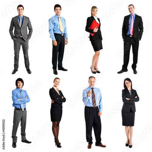 Full length portraits of business people