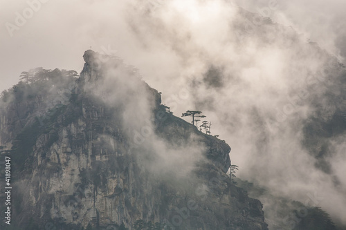 View of misty fog mountains - 41898047
