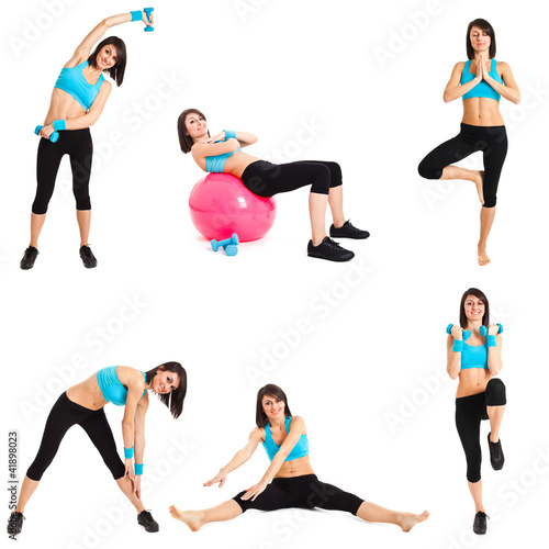 Collection of full length fitness portraits
