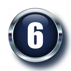 Altı mavi ikonda