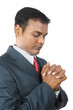 Indian Business Man Praying