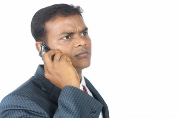 Indian businessman using a mobile phone