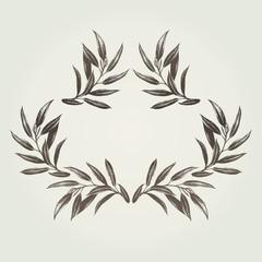 葉模様リーフ装飾