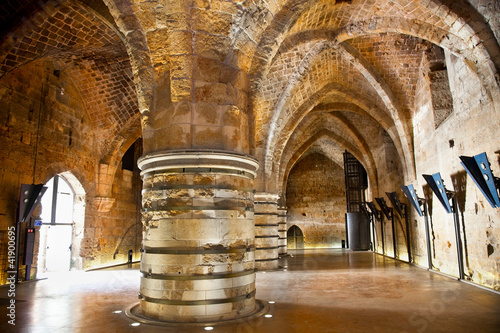 Inside of Knight templer castle, Akko,  Israel