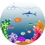 Beautiful underwater world poster