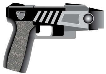 Stun gun - radiating a cool glow.