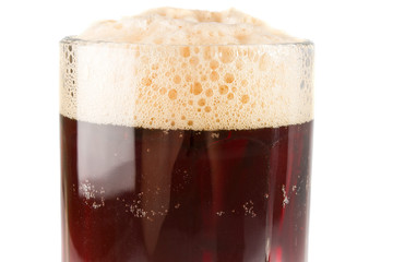 dark beer with rich froth