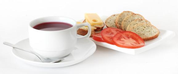 Чай с бутербродами