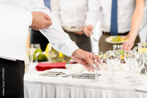 Business catering glasses for company celebration