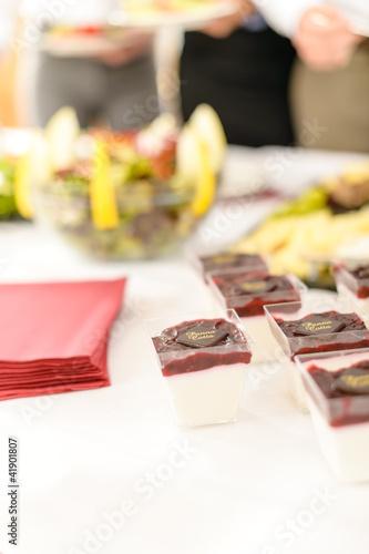 Catering mini dessert closeup