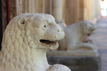 Romanesque Lion statue