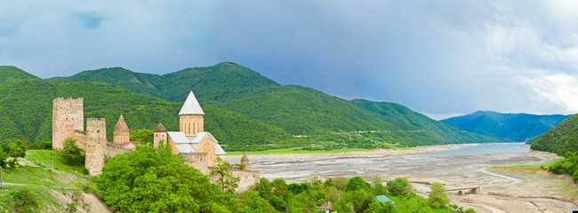 panorama of Castle with Church,Tbilisi, Georgia