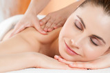 Smiling woman massage