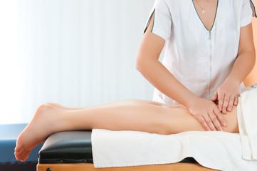Legs thighs massage