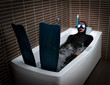 Bizarre dive immersion in bathtub - 41904078