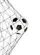 soccer ball in the net gate