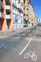 Vienna cycling lane