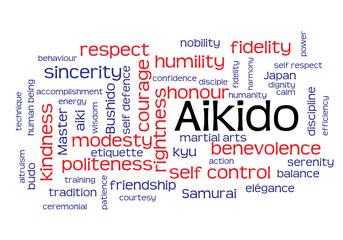 Web Art Design AIKIDO TAG CLOUD NUAGE MARTIAL ARTS  270