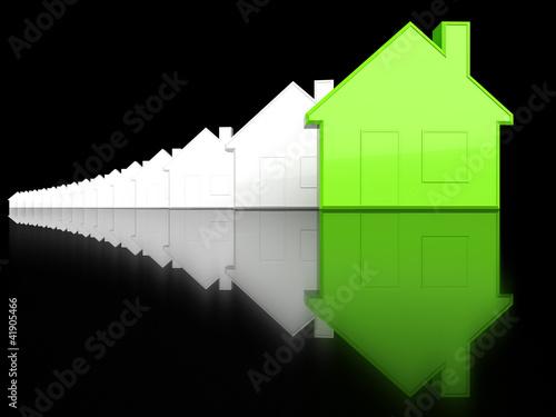 Ökolisches Haus unter Normalen