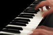 Leinwanddruck Bild - Klavierspieler in Aktion