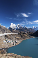 Viw of 3rd lake from Gokyo Ri, Everest region, Nepal