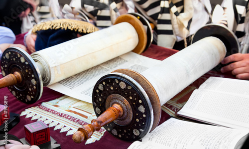Torah- ancient scrolls in Jerusalem - 41906898
