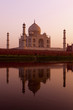 Taj Mahal from north bank of Yamuna River, India.