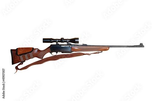 Fotobehang Jacht Hunting rifle