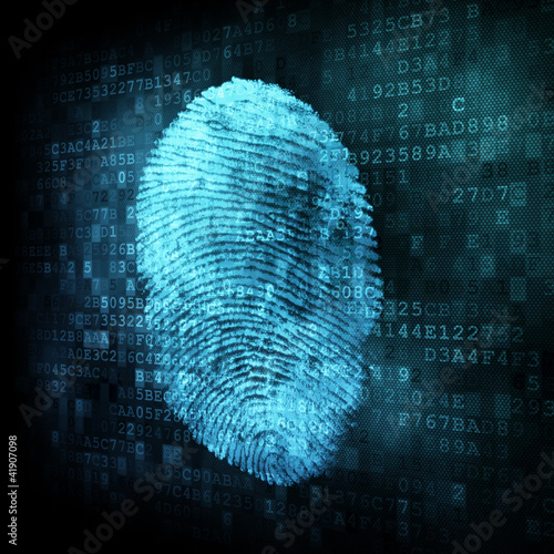 Fingerprint on digital screen