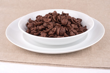 Chocolate cereals.
