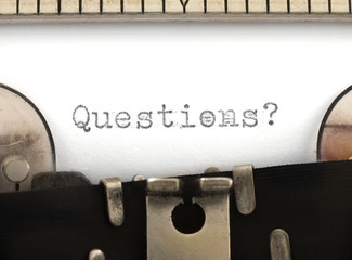 Questions? on the typewriter