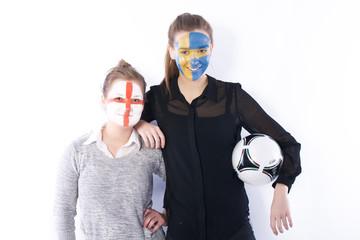 Football soccer fans friends