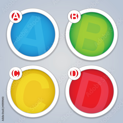 ABC progress circular labels / Templates in colors