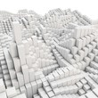 3d abstract smooth white metallic cubes background