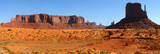 Monument Valley Panorama with the West Mitten at right
