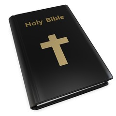 3d holy bible with golden cross