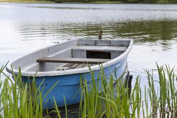 Altes Ruderboot in der Uckermark, Ostdeutschland