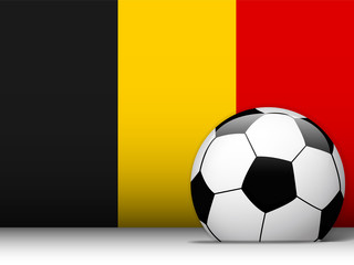 Belgium Soccer Ball with Flag Background