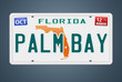 Nummernschild Florida Palm Bay
