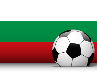 Bulgaria Soccer Ball with Flag Background