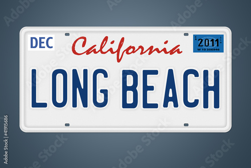 Nummernschild CA Long Beach