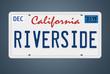 Nummernschild CA Riverside
