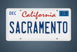 Nummernschild CA Sacramento