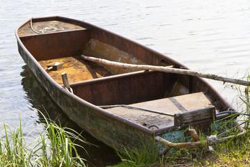 Altes Ruderboot, Seenlandschaft Uckermark, Ostdeutschland