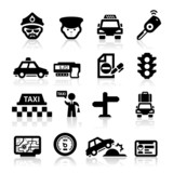 Fototapety Taxi Business icons set Elegant series