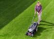 mowing senior man