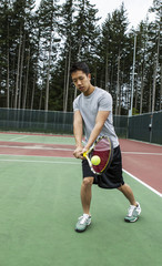 Outdoor Door Tennis - Backhand Stroke
