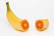 Banana containing an orange