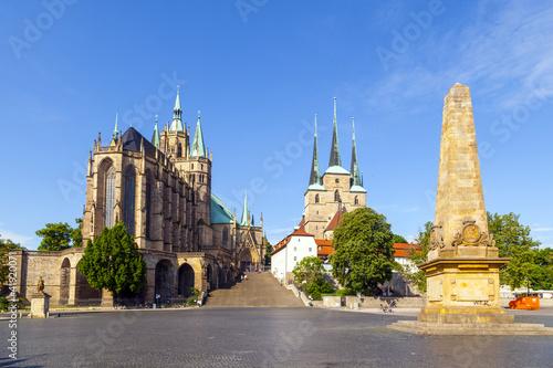 Foto op Plexiglas Bedehuis Dom hill of Erfurt Germany